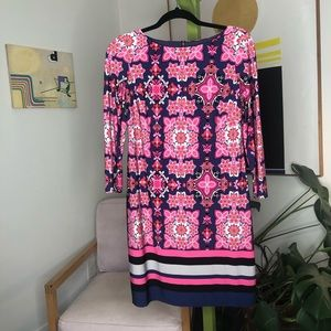 Vince Camuto sheath dress pink floral size 6
